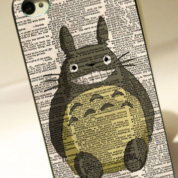 Totoro With Dictionary - for iPhone 4/4S case iPhone 5 case hard case hard cover