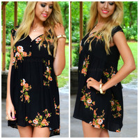 Palisades Black Floral Tunic Dress