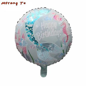 10pcs/lot 18inch sea fish Mermaid Foil Balloons Kids Toys for Birthday Party Hawaii party decorations party Supplies
