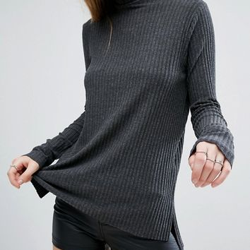 Pull&Bear Ribbed Jersey Sweater at asos.com