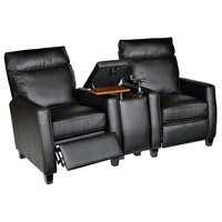 Florence Home Theater Recliner (Set of 2) Color: Royal Black