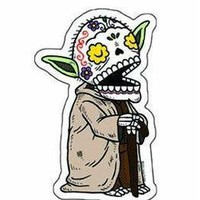 DAY OF THE DEAD SUGAR SKULL STAR WARS COLLECTABLE YODA ARTWORK STICKER | eBay