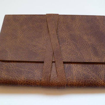 Travel Journal Leather Journal Leather Notebook Leather book. Light Brown leather with an Aged/Antique Finish.