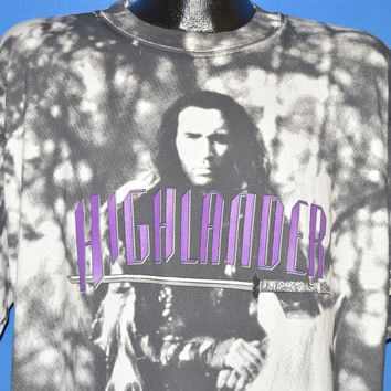 90s Highlander Movie All Over Print t-shirt Extra Large
