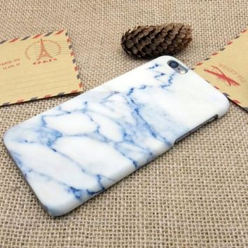 Sky Blue Marble Best Protection iPhone 7 7 Plus & iPhone 6 6s Plus & iPhone 5s se Case Personal Tailor Cover + Gift Box-170928