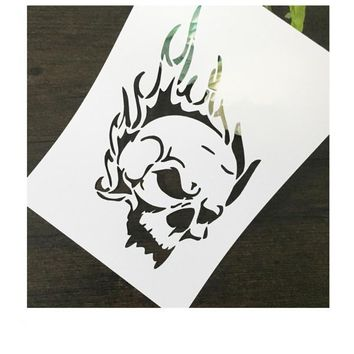 Skull Head Scrapbooking tool DIY album masking spray painted template drawing stencil laser cut template AP7050283