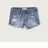 Low Rise Boyfriend Shorts