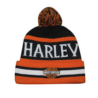 Harley Davidson Adult Beanie / Winter Hat with Removable Pom Pom one size Multicolor