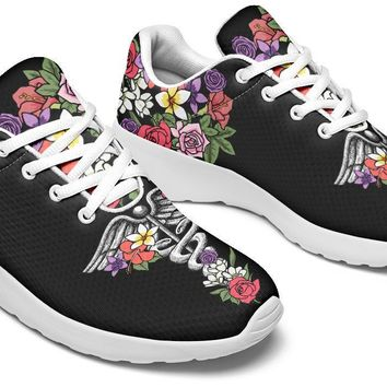 Floral Anatomy Caduceus Sneakers