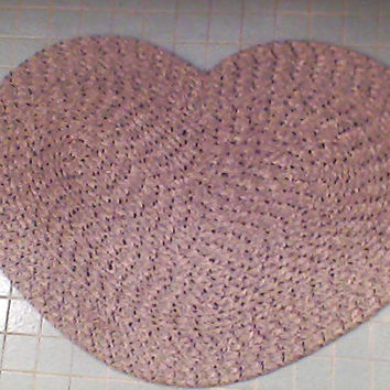 Heart, Shape, Grey, Braided, Bathroom, Home, Floor, Rug, Wall, Shabby, Boho, Cottage, Beach, Love, Chic, Decor, Picture, Pin Board, Warming
