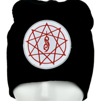 9 Point Pentagram Slipknot Beanie Alternative Clothing Knit Cap