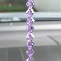 Crystal Octagons Purple and Topaz Suncatcher Star Starburst Rearview Mirror Car Charm Light Catcher Car Accessories