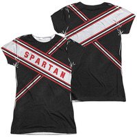 SNL/SPARTAN COSTUME (FRONT/BACK PRINT)-S/S JUNIOR POLY CREW-WHITE