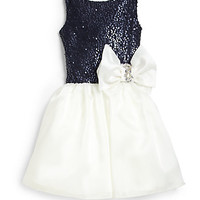 Zoe - Girl's Sequin Organza Dress