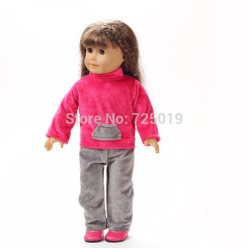 "Free shipping hot 2014 new style Popular 18"" American girl doll clothes dress b215"