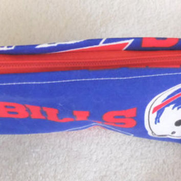 Buffalo Bills Wristlet With Red Zipper and Red Strap