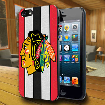 Black Hawks New - Print on Hard Cover For iPhone 4/4S and iPhone 5 Case - Please Leave Message For Device And Colour Case