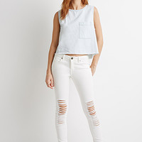 Life In Progress Distressed Skinny Jeans