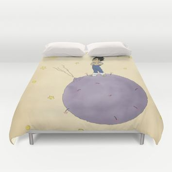 The Little Prince Of Saiyans Duvet Cover by Agu Luque