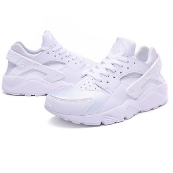 """NIKE""AIR Huarache Running Sport Casual Shoes Sneakers pure white H"