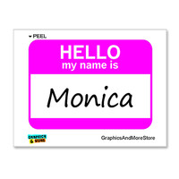 Monica Hello My Name Is Sticker