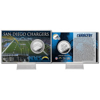 San Diego Chargers Silver Coin Card