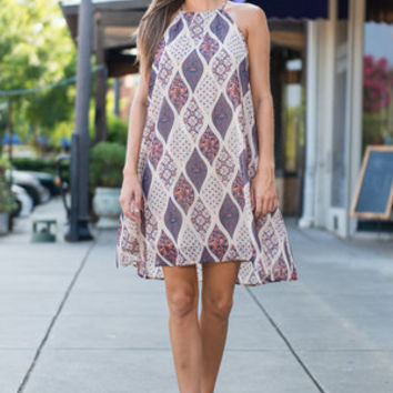 Shimmer And Shine Dress, Taupe