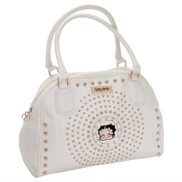 Betty Boop - Circle Betty Off-White Satchel Purse