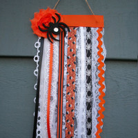 """Halloween Fall Spider Detail Mini Flag Banner Wall decor Wall Hanging, 5"""" Wide x 10"""" Long"""