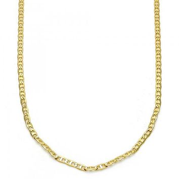 Gold Layered 04.213.0028.14 Basic Necklace, Mariner Design, Polished Finish, Golden Tone