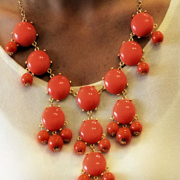 Coral Bubble Necklace