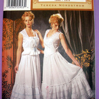 Vintage Closet Costume Corset Cover and Walking Slip Misses' Size 14, 16, 18, 20 Simplicity 5905 Sewing Pattern Uncut