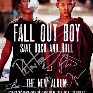 FALL OUT BOY Save Rock & Roll SIGNED Autographed PHOTO Print POSTER Shirt CD 011