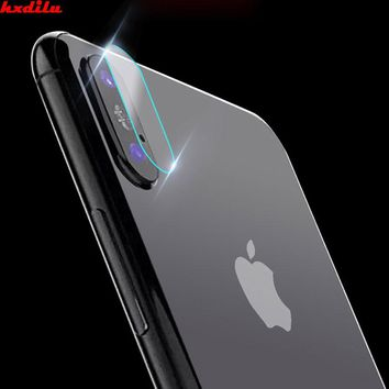 HXLIDU Accessory Back Camera Lens Screen Protector Protection Tempered Glass Full Cover Coverage Film For iphone X
