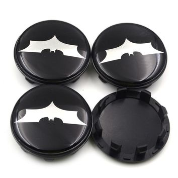 Batman Dark Knight gift Christmas Gzhengtong 58mm Black Aolly White Batman Logo Car Emblem Wheel Center Hub Cap Badge Covers Accessories For KIA Car Styling AT_71_6