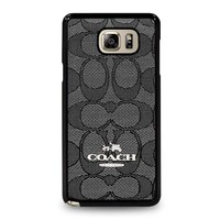 COACH NEW YORK CHARLIE SIGNATURE Samsung Galaxy Note 5 Case Cover
