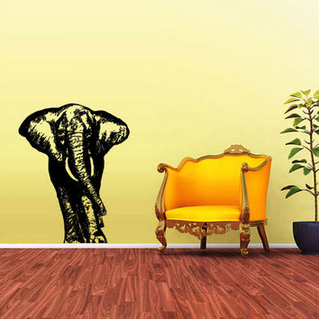 rvz1594 Wall Vinyl Sticker Bedroom Decal Nursery Kids Baby Elephant