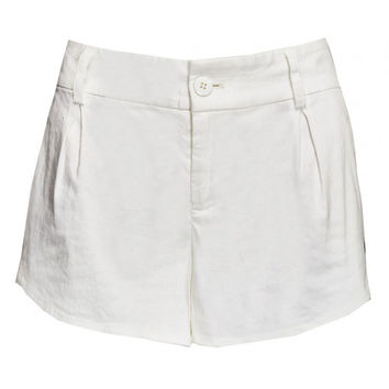 Alice + Olivia White Butterfly Shorts