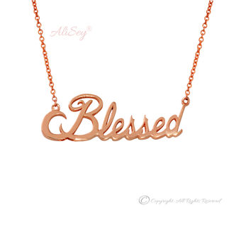14k Rose Gold Blessed Pendant, Style # ASP03RG