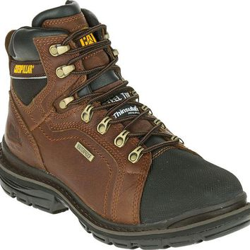 Cat P89981-8.5M Caterpillar Mens Manifold Waterproof Steel Toe Work Boot #8.5, Oak