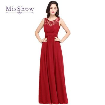 9b5ff1c1a MisShow 4 Colors Simple Beach Lace Red Bridesmaid Dresses 2017 L