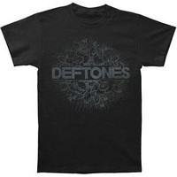 Deftones Men's  Floral Burst T-shirt Black