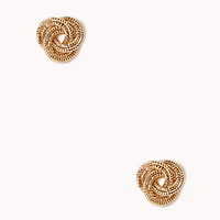 FOREVER 21 Infinity Ring Studs Gold One