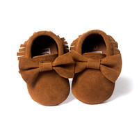Romirus PU Suede Leather Baby Clothing