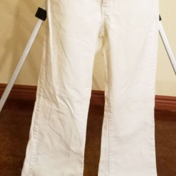 tommy hilfiger jeans womens  size 8 white pants 32 x 31