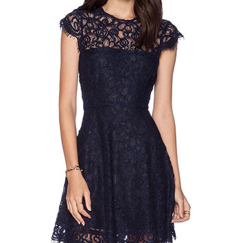 BB Dakota Rylin Lace Dress in Navy