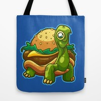 Turtle Burger Tote Bag by Artistic Dyslexia | Society6