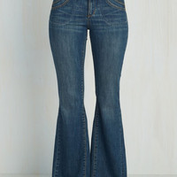 Boho Flare What Jeans are Made Of by Dittos from ModCloth