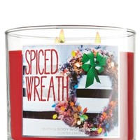 14.5 oz. 3-Wick Candle Spiced Wreath