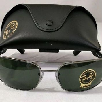LMOFNR Ray Ban Aviator Sunglasses RB 3026 Green Large Metal NEW With Case